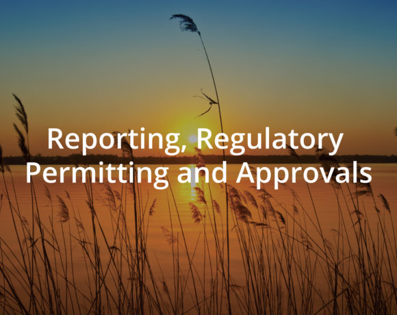 Reporting, Regulatory Permitting and Approvals